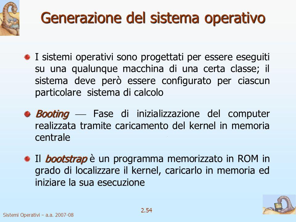 Generazione del sistema operativo