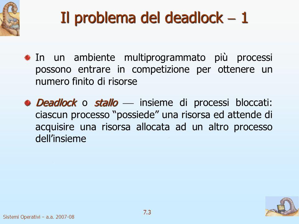 Il problema del deadlock  1