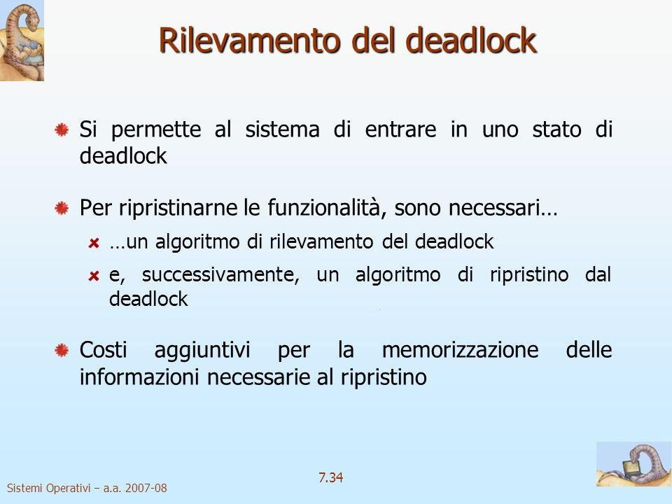 Rilevamento del deadlock