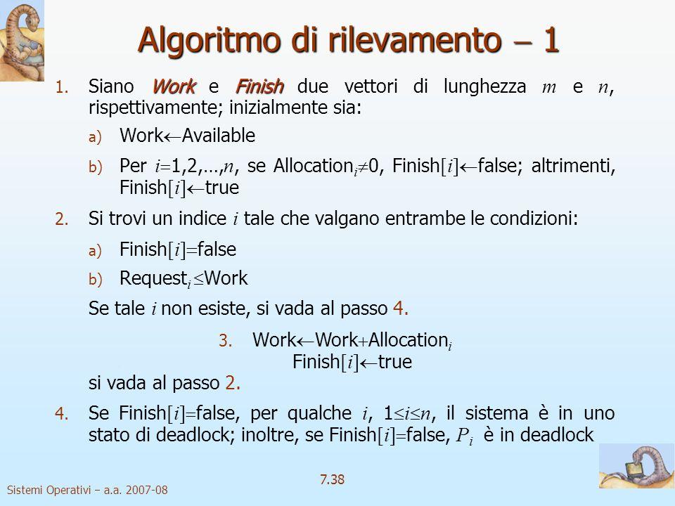 Algoritmo di rilevamento  1