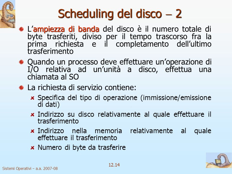 Scheduling del disco  2