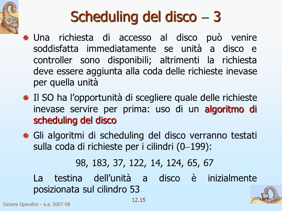 Scheduling del disco  3
