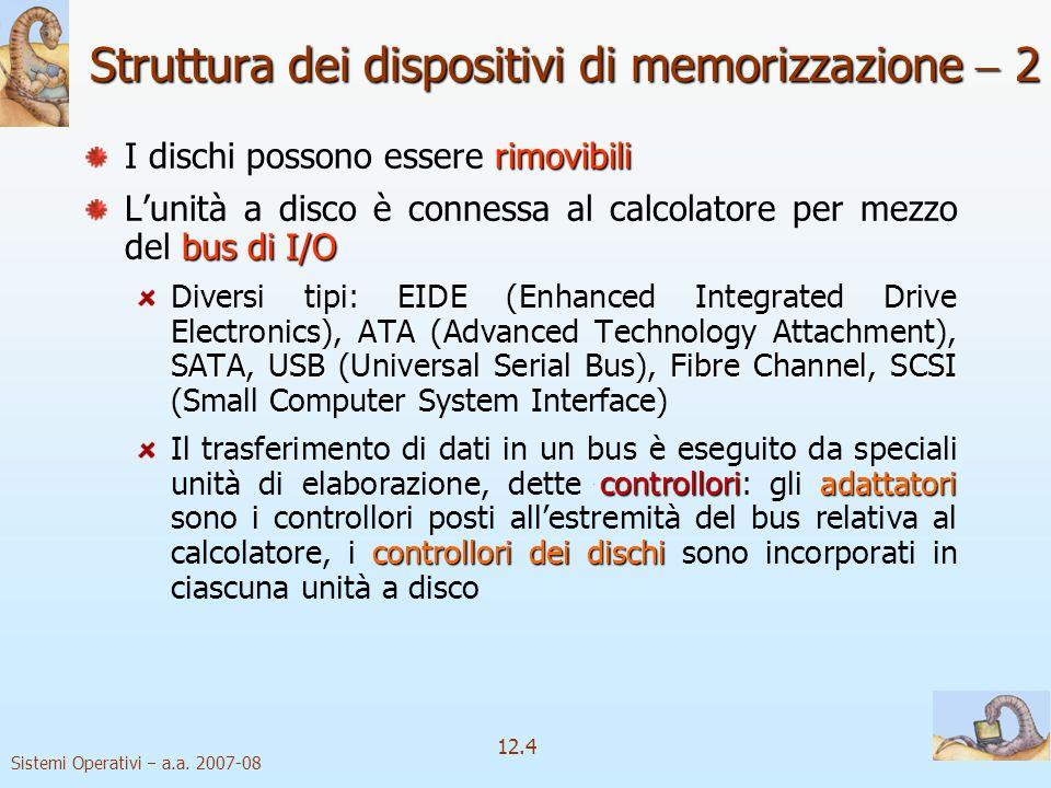 Struttura dei dispositivi di memorizzazione  2