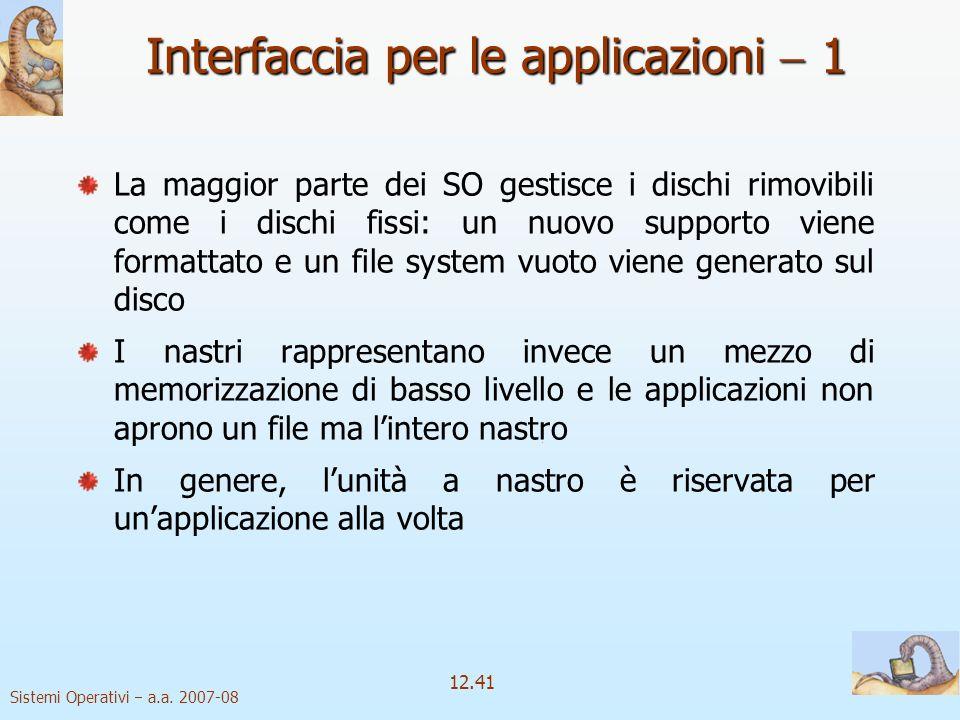 Interfaccia per le applicazioni  1