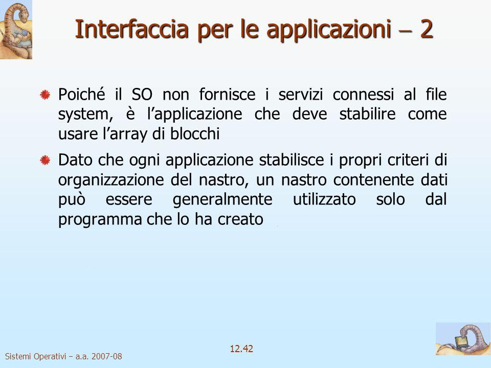 Interfaccia per le applicazioni  2
