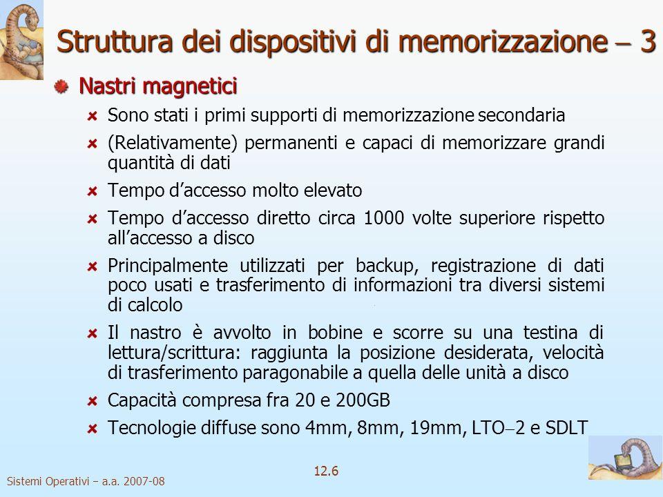 Struttura dei dispositivi di memorizzazione  3