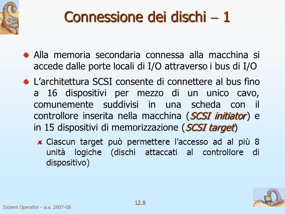 Connessione dei dischi  1