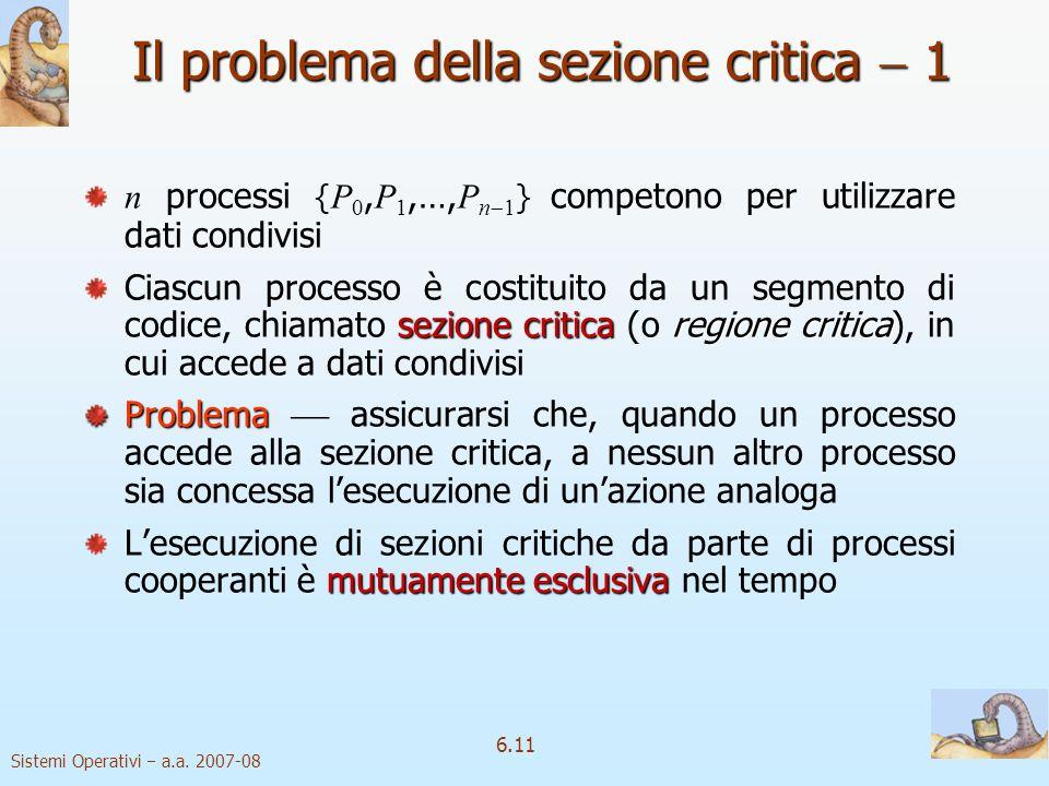Il problema della sezione critica  1