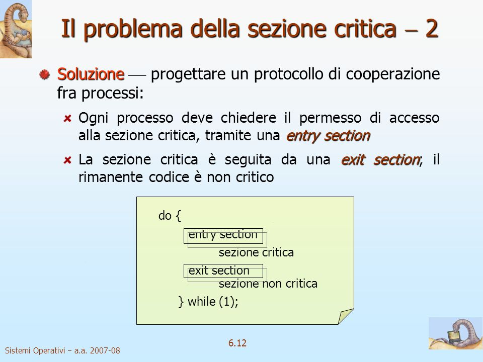 Il problema della sezione critica  2