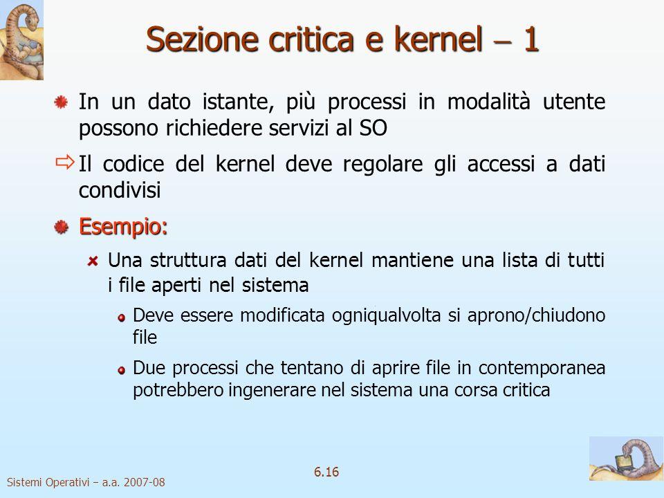 Sezione critica e kernel  1