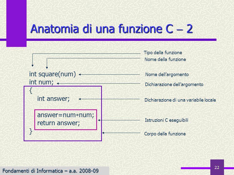 Anatomia di una funzione C  2