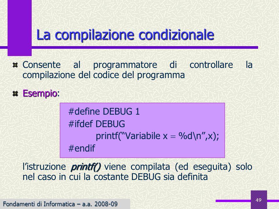 La compilazione condizionale