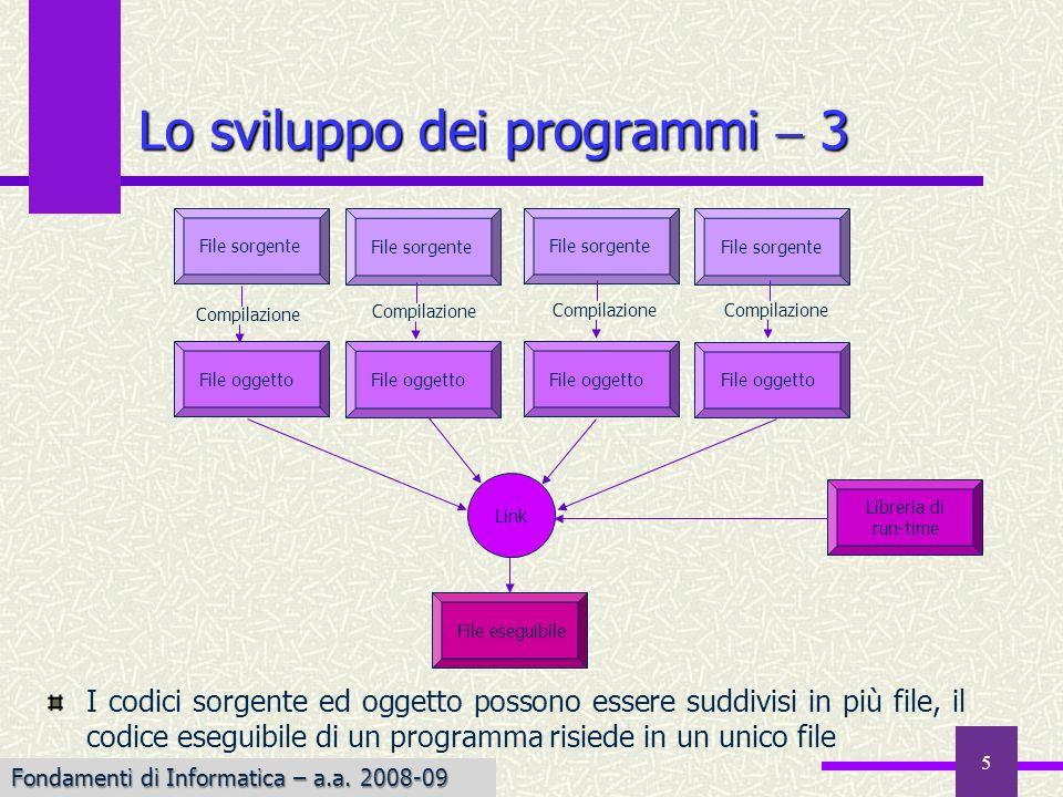 Lo sviluppo dei programmi  3