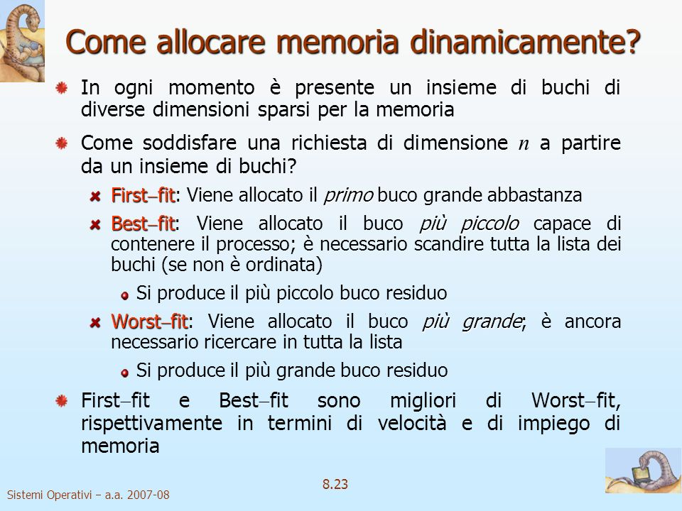 Come allocare memoria dinamicamente
