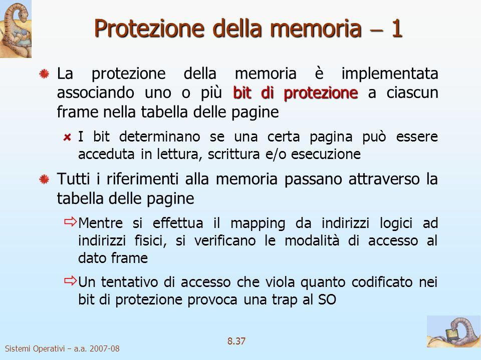 Protezione della memoria  1