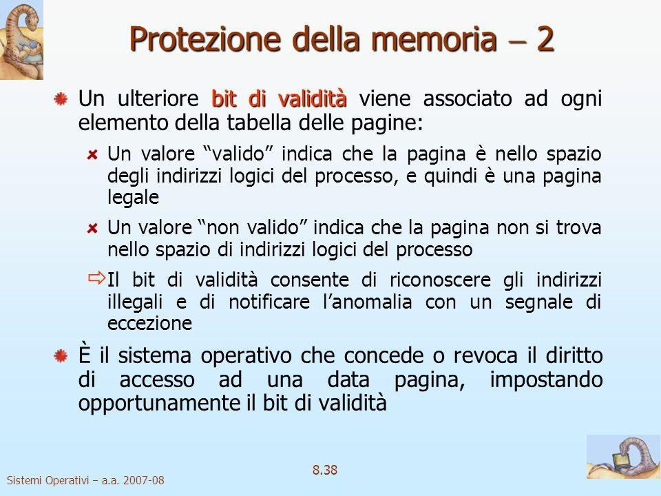 Protezione della memoria  2