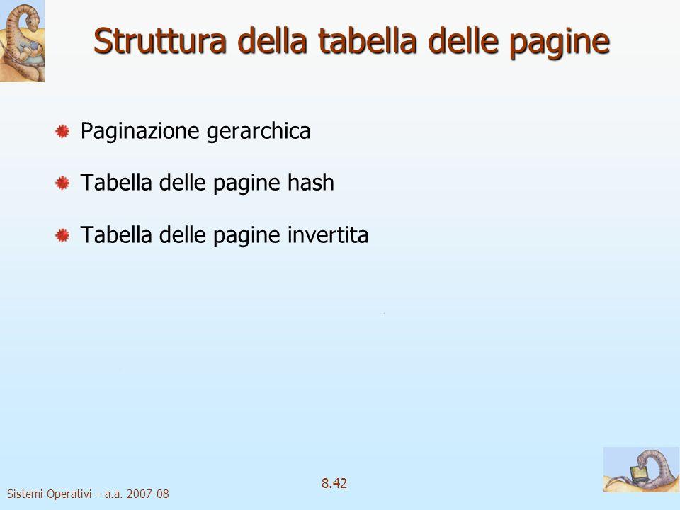 Struttura della tabella delle pagine