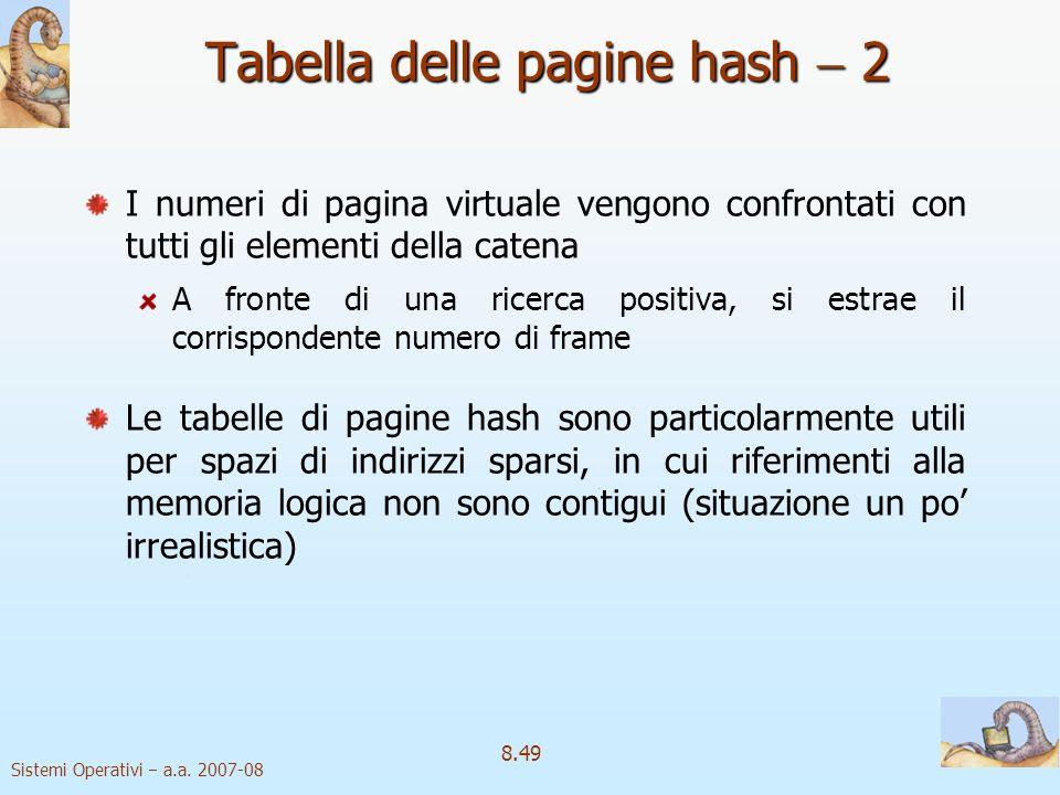 Tabella delle pagine hash  2