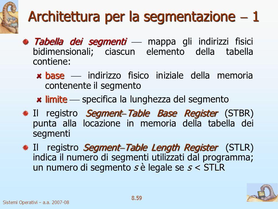 Architettura per la segmentazione  1