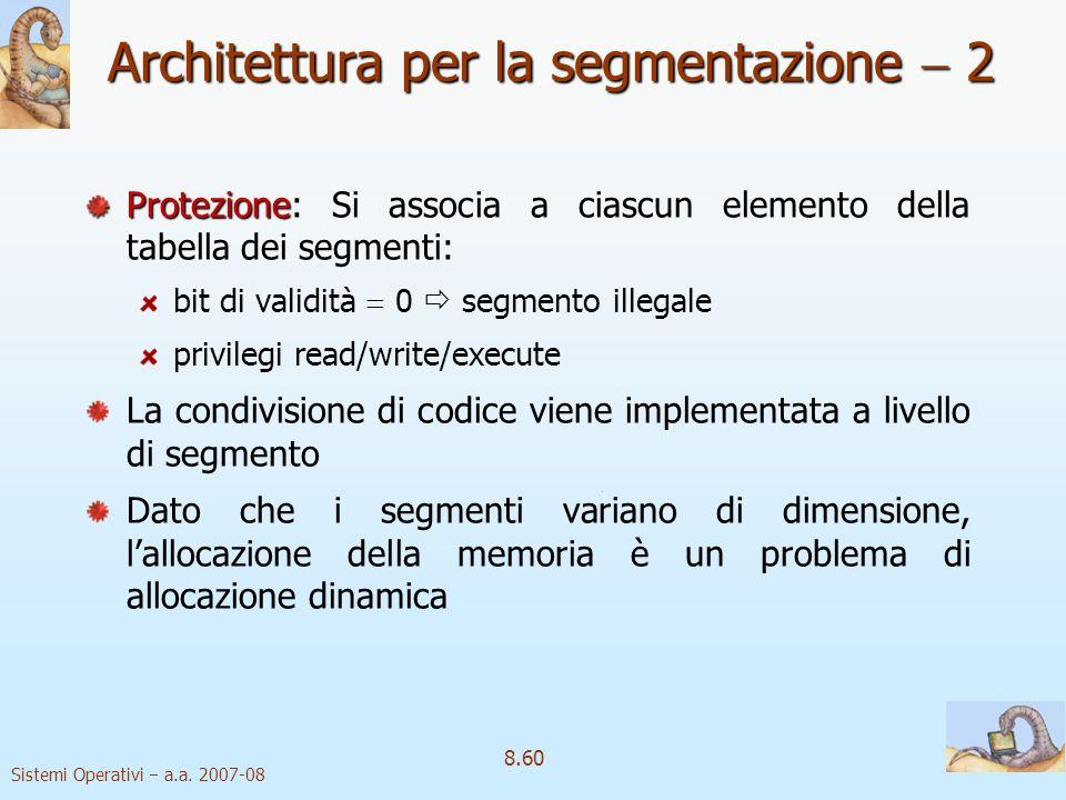 Architettura per la segmentazione  2