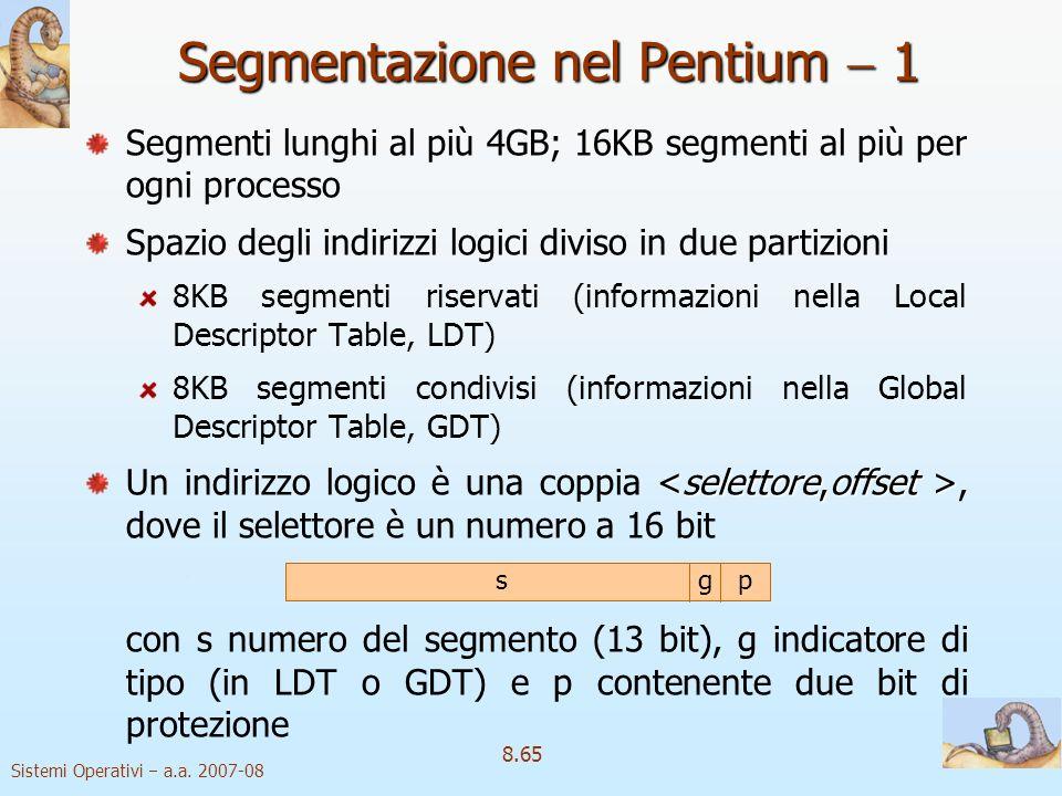 Segmentazione nel Pentium  1