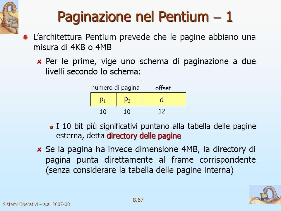 Paginazione nel Pentium  1