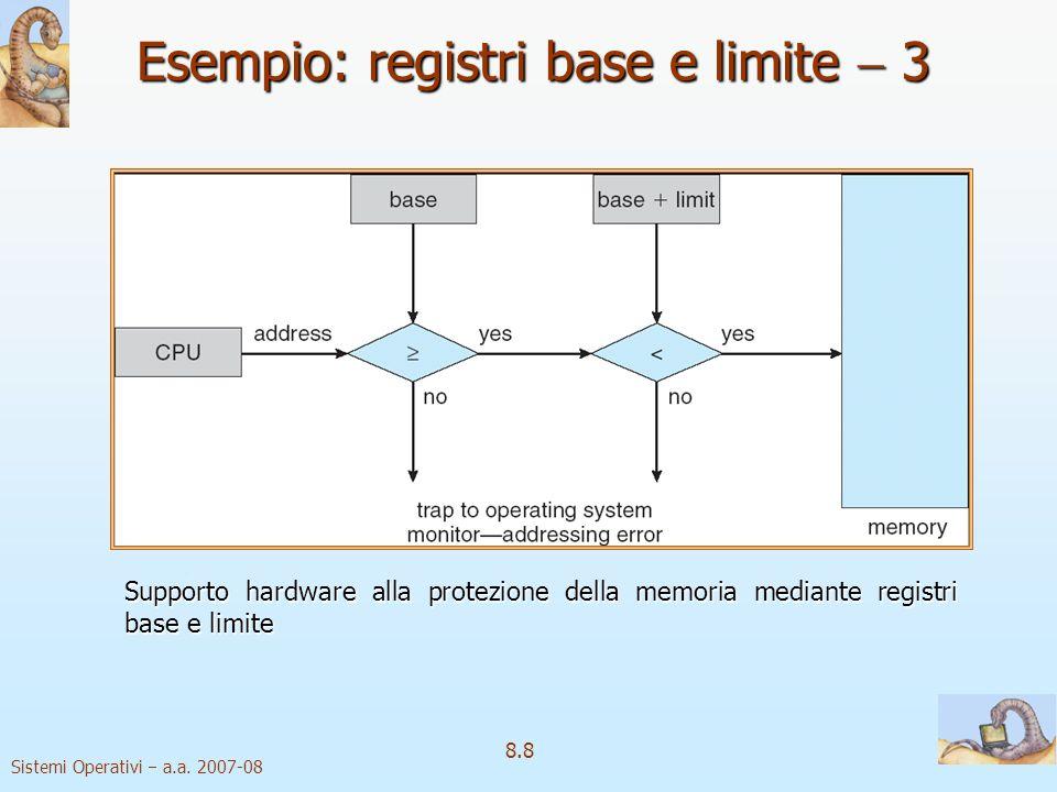 Esempio: registri base e limite  3