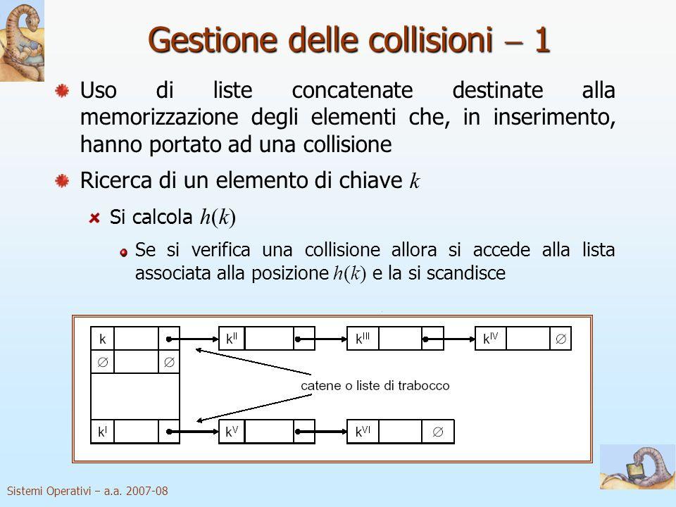 Gestione delle collisioni  1