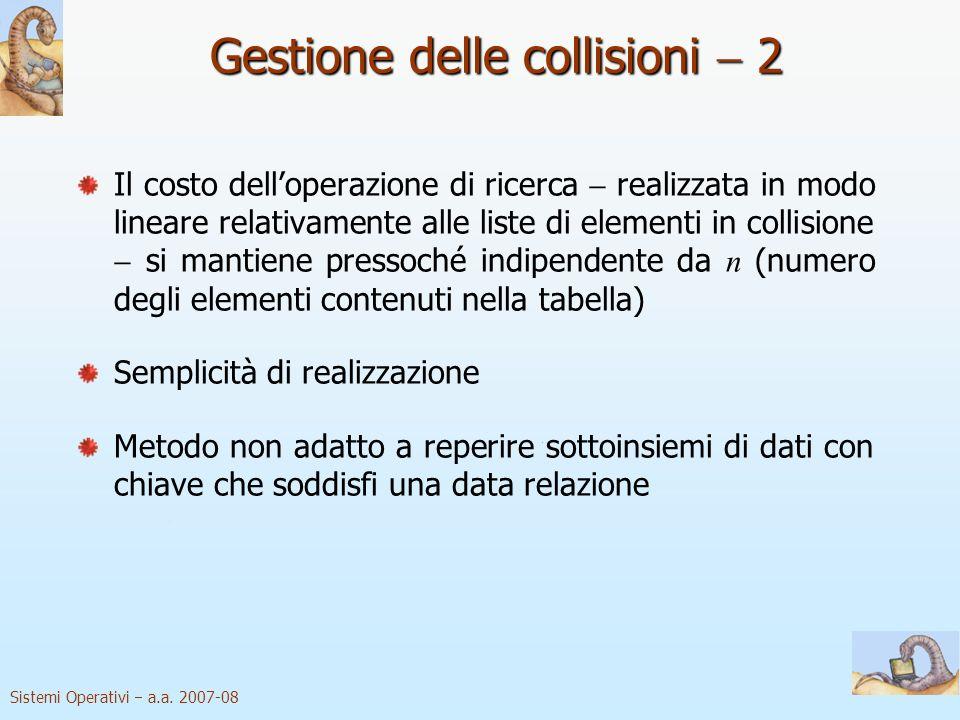 Gestione delle collisioni  2