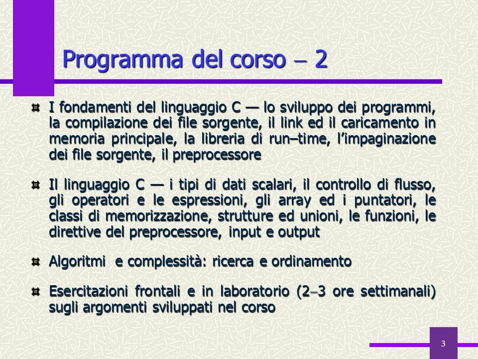 Programma del corso  2