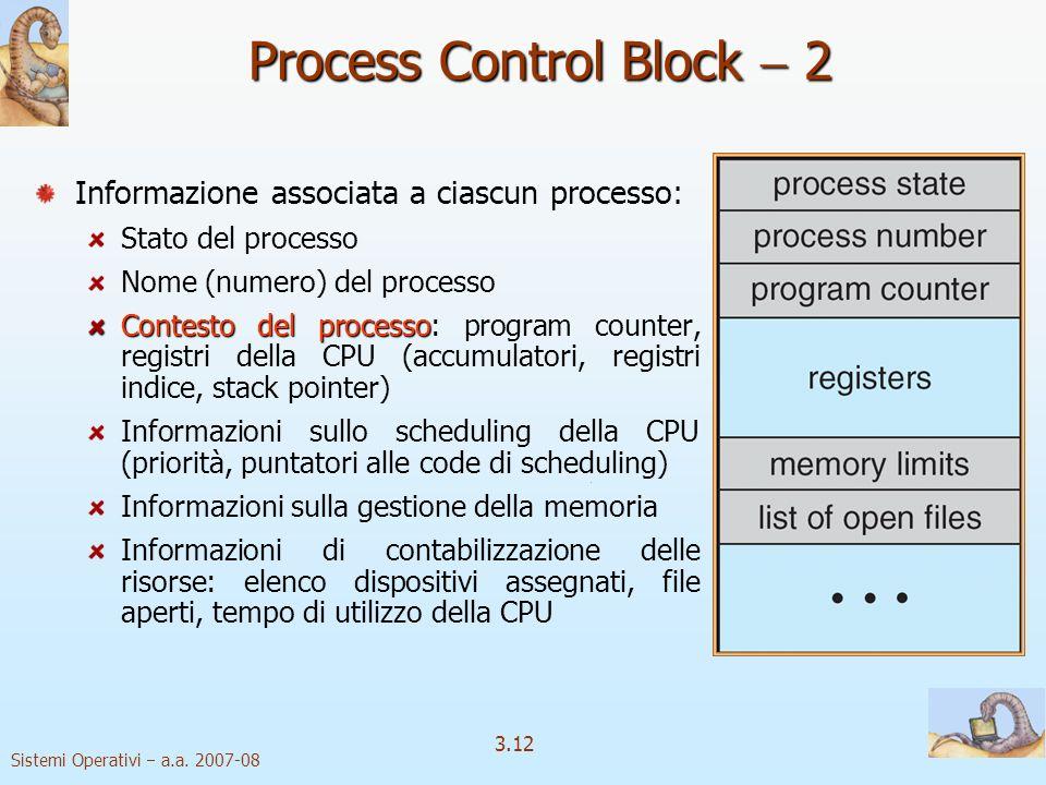 Process Control Block  2