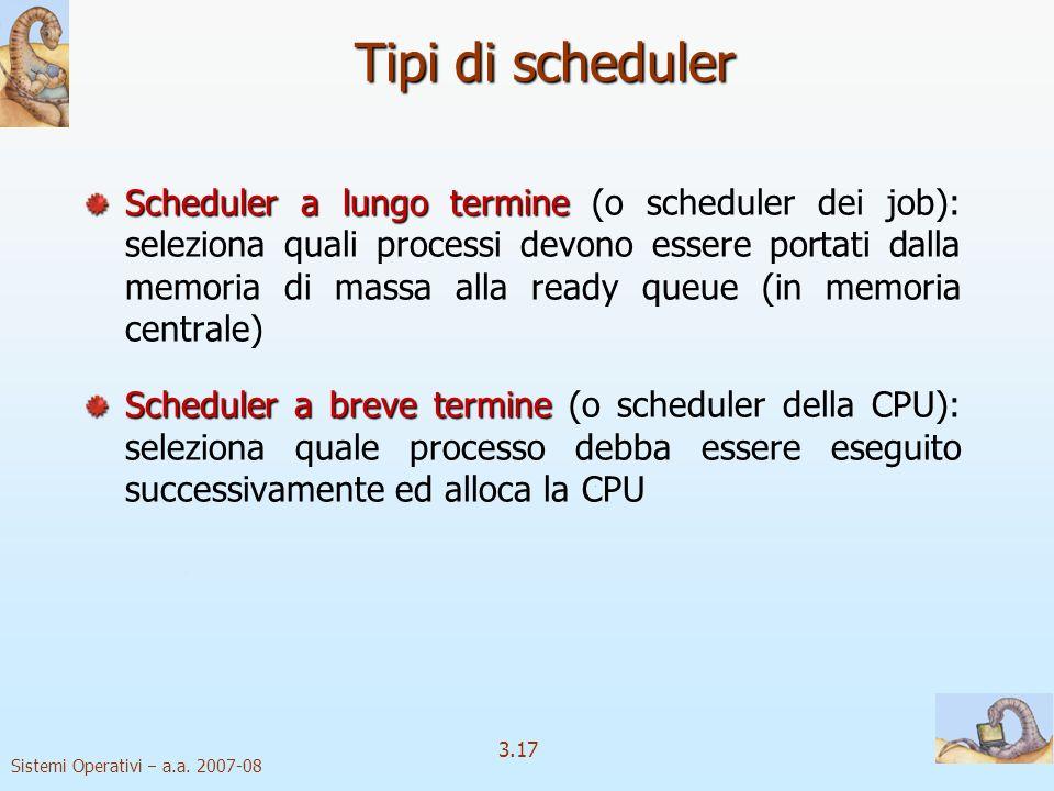 Tipi di scheduler