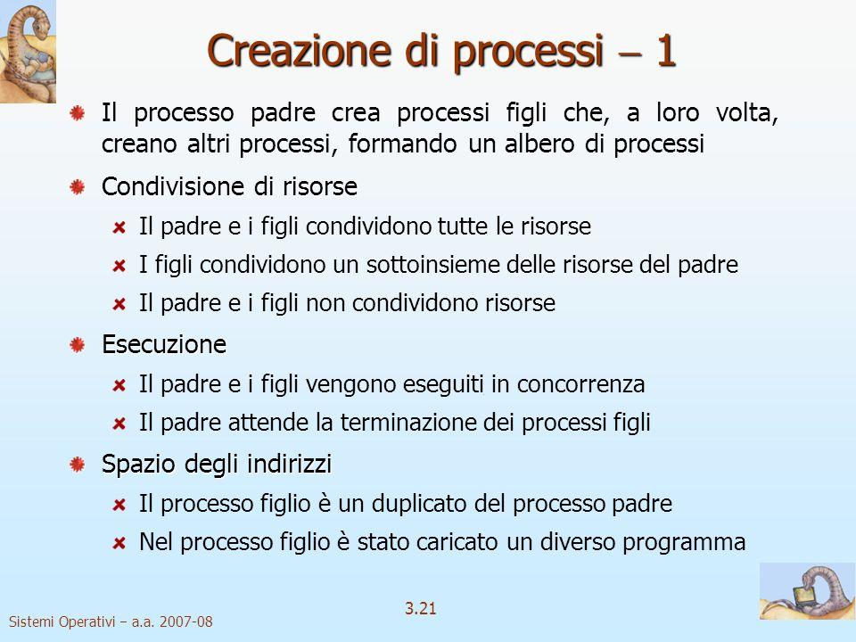 Creazione di processi  1
