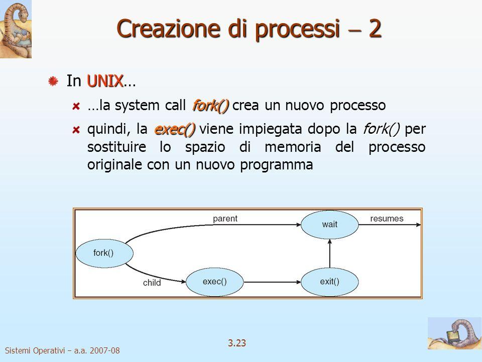 Creazione di processi  2