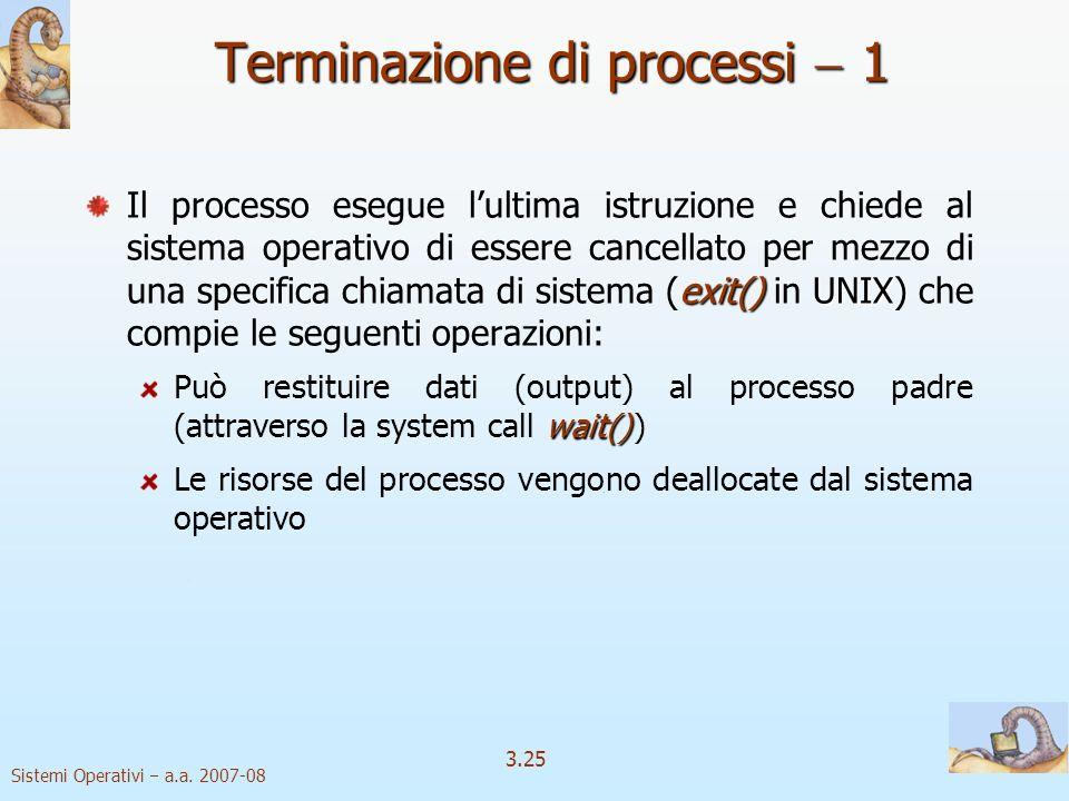 Terminazione di processi  1