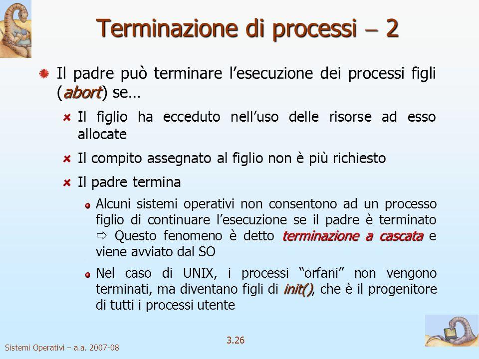 Terminazione di processi  2