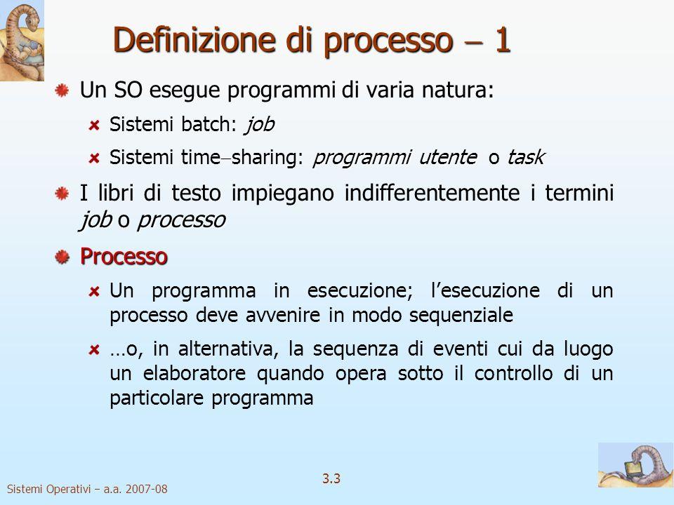 Definizione di processo  1