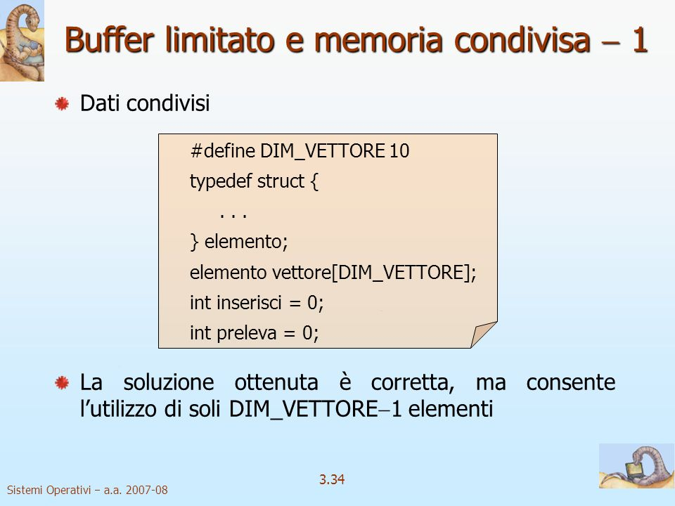 Buffer limitato e memoria condivisa  1