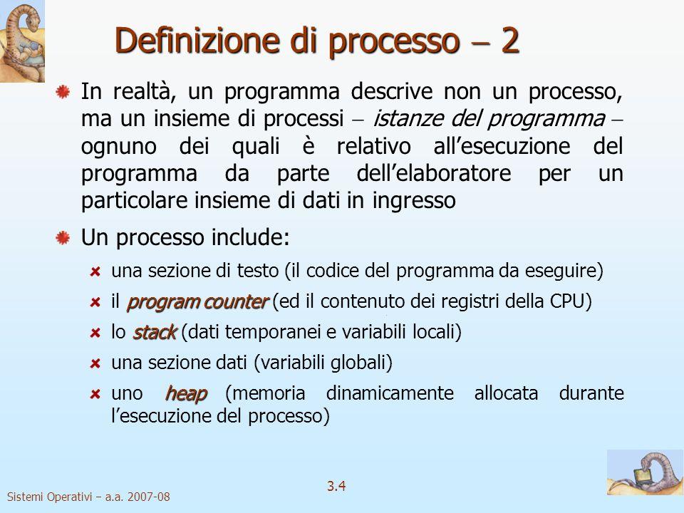 Definizione di processo  2