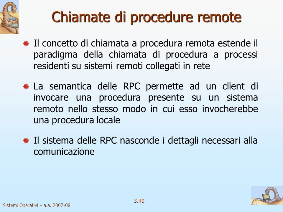 Chiamate di procedure remote