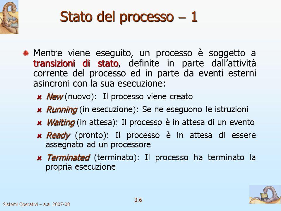 Stato del processo  1