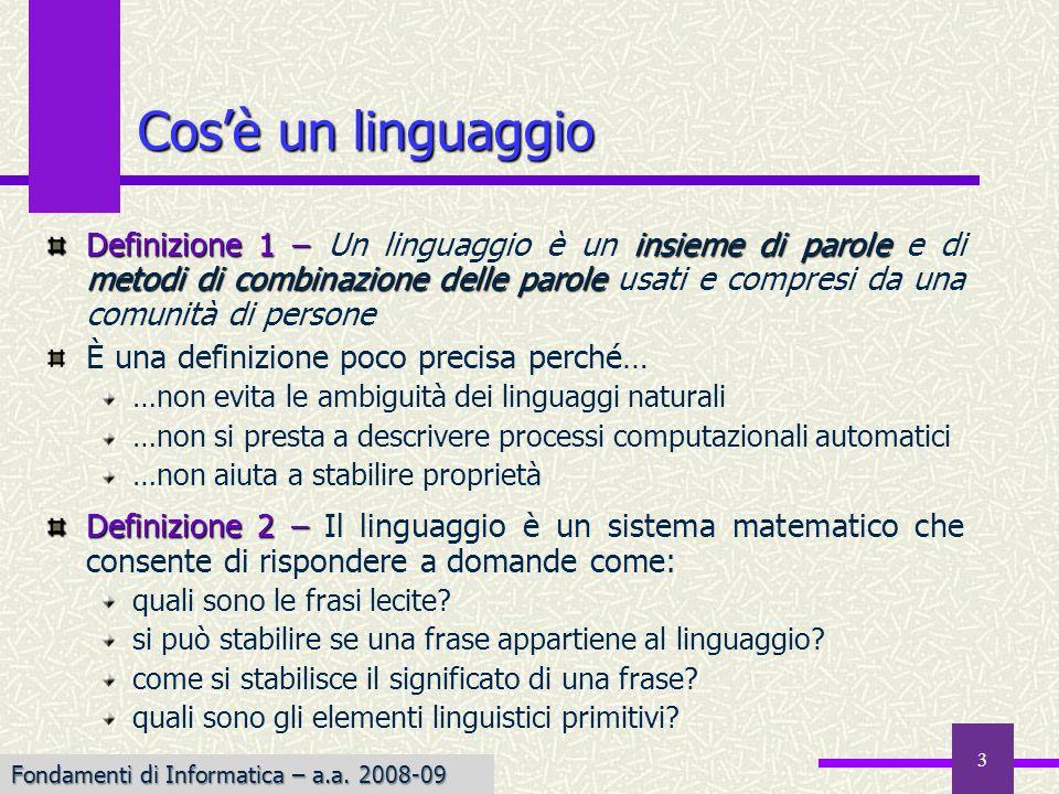 Cos'è un linguaggio