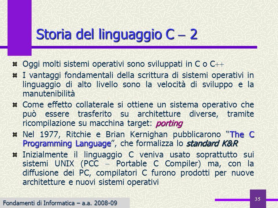 Storia del linguaggio C  2