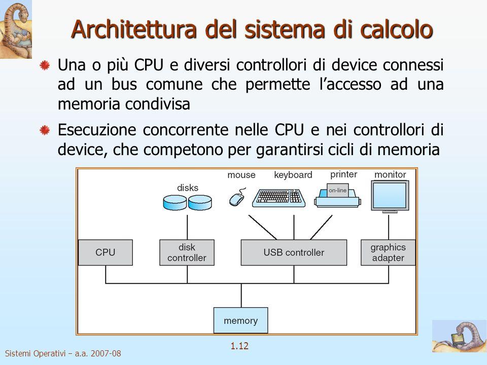 Architettura del sistema di calcolo