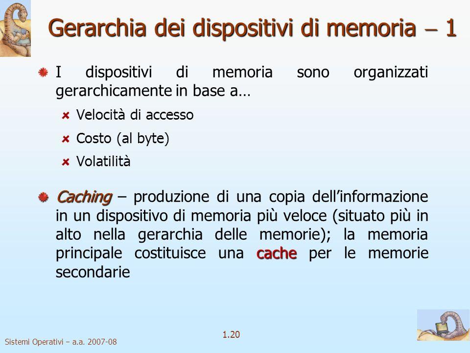 Gerarchia dei dispositivi di memoria  1