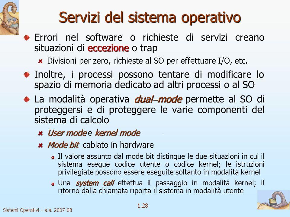Servizi del sistema operativo