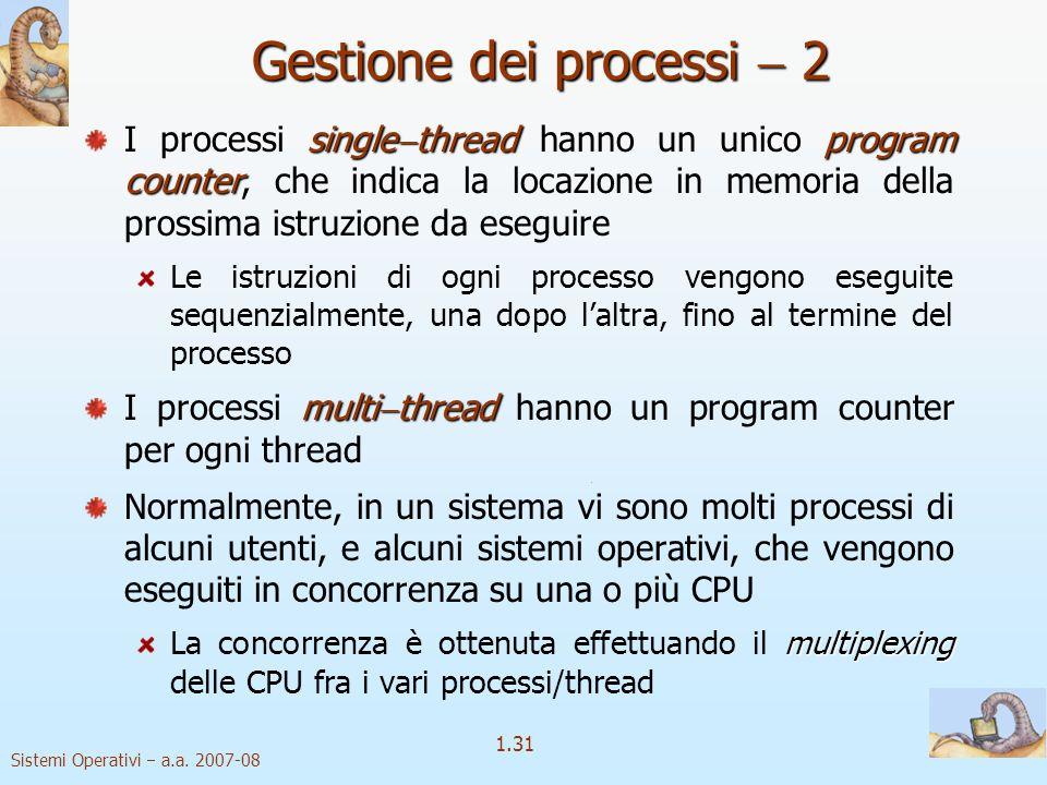 Gestione dei processi  2