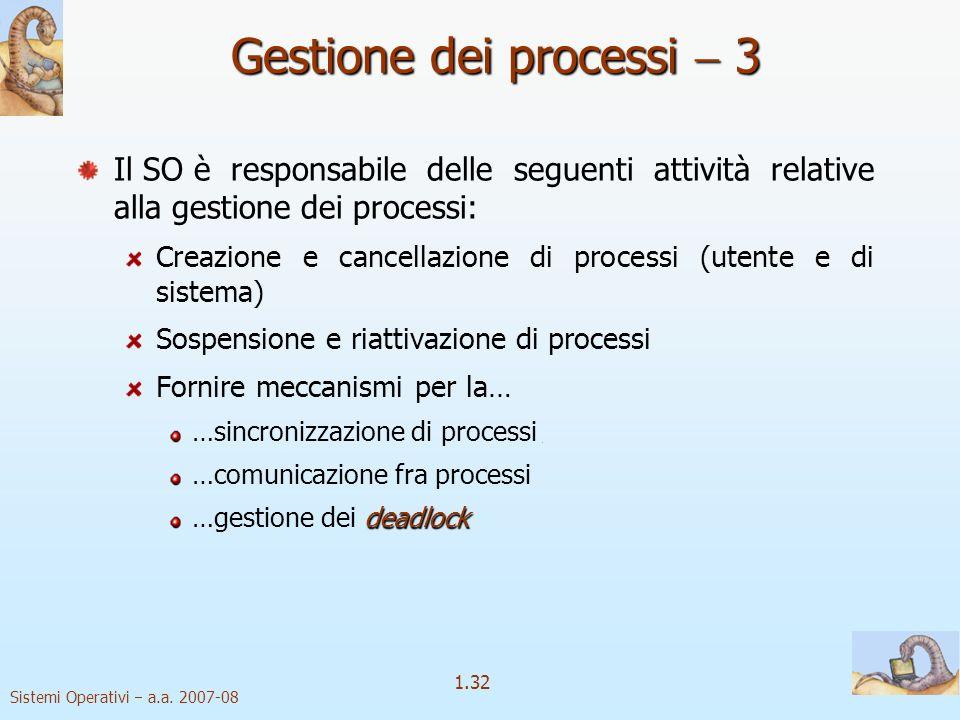 Gestione dei processi  3