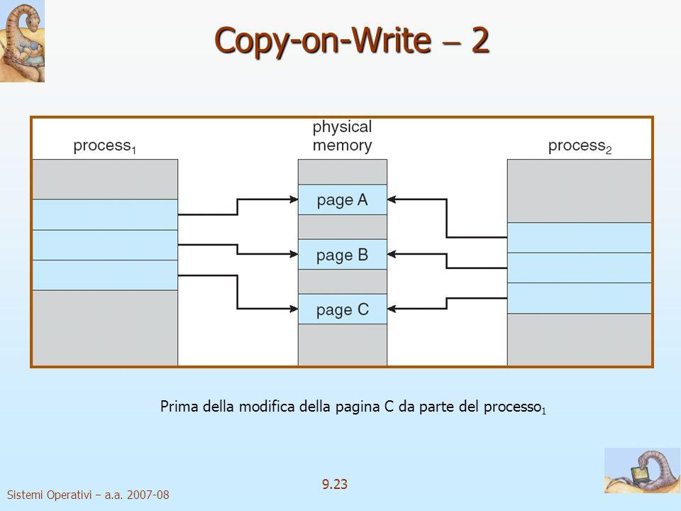 Prima della modifica della pagina C da parte del processo1