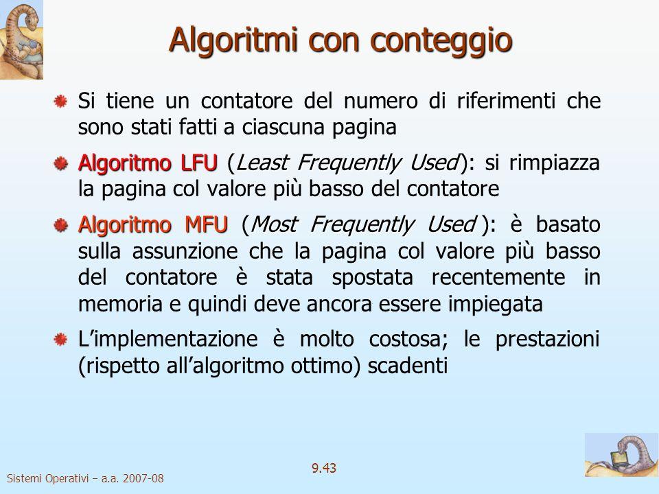 Algoritmi con conteggio